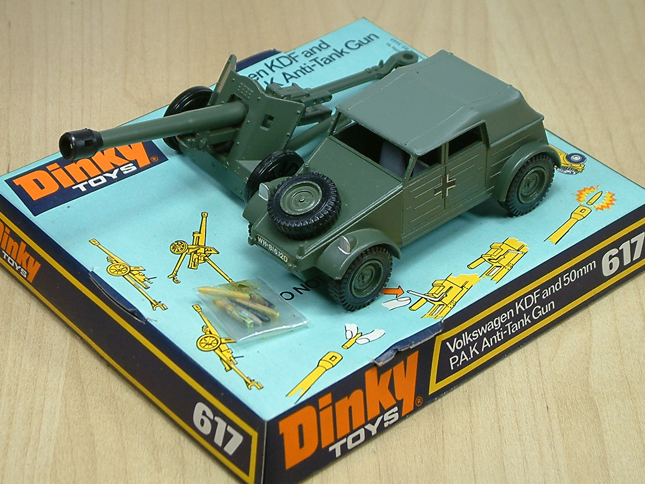 German 50 Mm Anti Tank Gun: Dinky 617, Volkswagen KDF & 50mm Anti-Tank Gun.